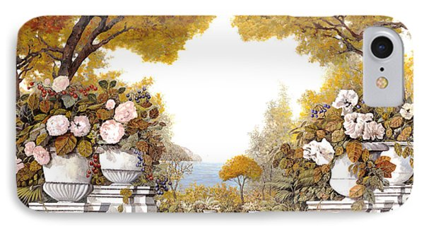 four seasons-autumn on lake Maggiore Phone Case by Guido Borelli