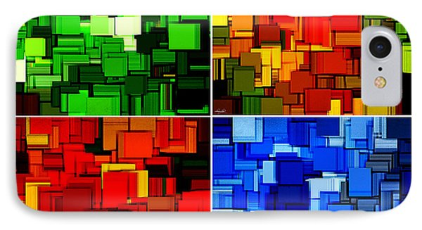 Four Seasons In Abstract II IPhone Case by Lourry Legarde