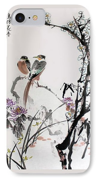 Four Seasons In Harmony IPhone Case by Yufeng Wang