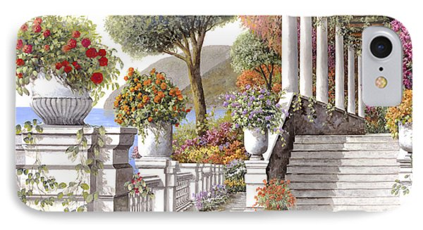 four seasons-summer on lake Como Phone Case by Guido Borelli