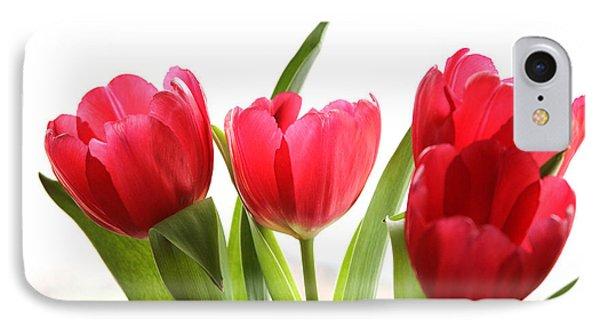 Four Tulips IPhone Case by Menachem Ganon