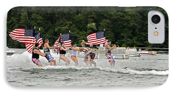 Fourth Of July On The Lake Phone Case by Susan Leggett