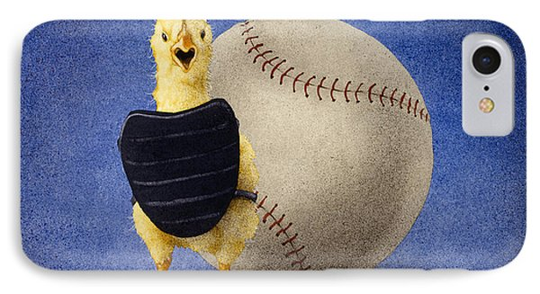 IPhone Case featuring the painting Fowl Ball... by Will Bullas