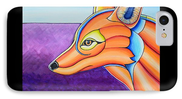 IPhone Case featuring the painting Fox 1 by Joseph J Stevens