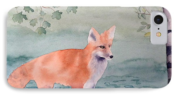 Fox And Birch IPhone Case by Laurel Best