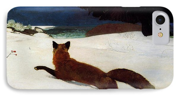 Fox Hunt IPhone Case by Winslow Homer