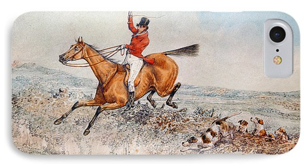 Fox Hunting IPhone Case by Henry Thomas Alken
