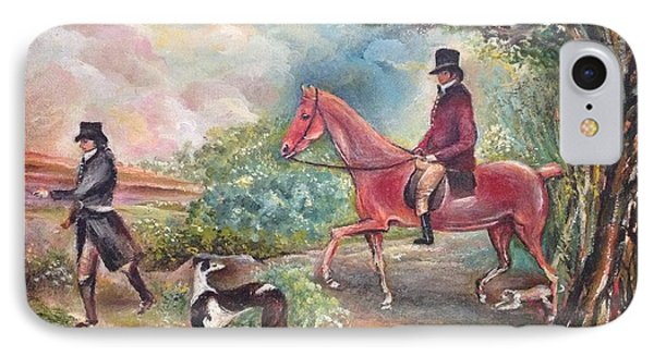 IPhone Case featuring the painting Fox Hunting by Egidio Graziani