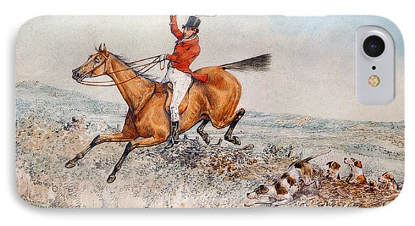 Fox Hunting Phone Case by Henry Thomas Alken