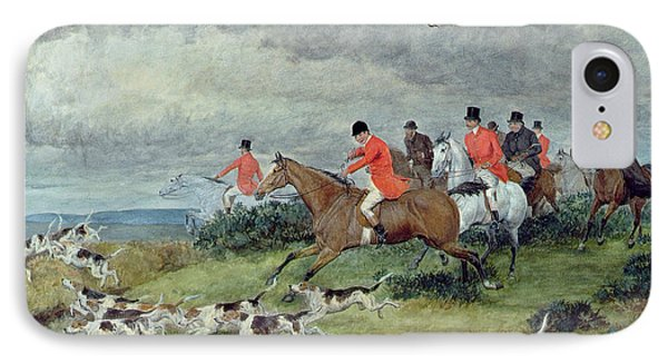 Fox Hunting In Surrey IPhone Case by Randolph