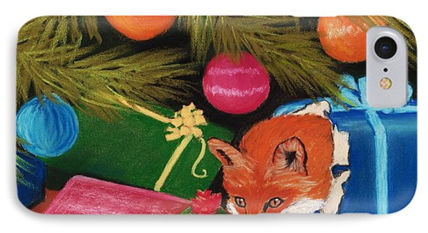 Fox In A Box IPhone Case by Anastasiya Malakhova