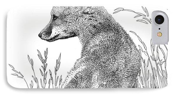 Fox In Grass IPhone Case
