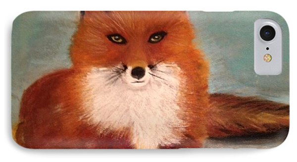 Fox In The Snow IPhone Case by Renee Michelle Wenker