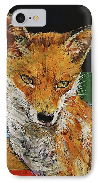 Red Fox IPhone Case by Michael Creese