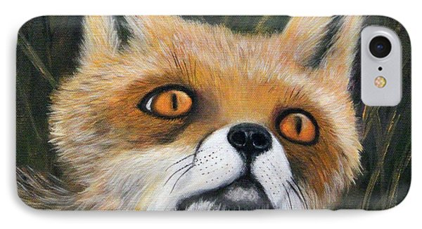 IPhone Case featuring the painting Fox Stare by Janet Greer Sammons