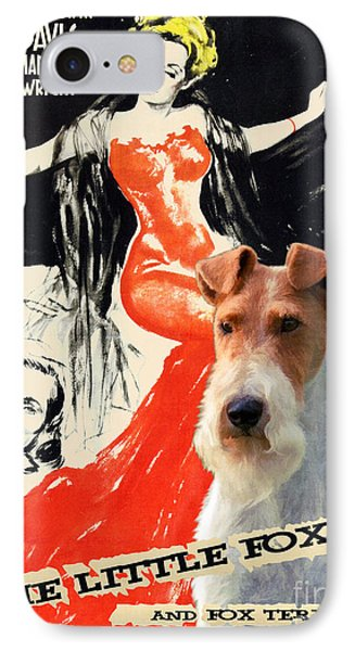 Fox Terrier - Wire Fox Terrier Art Canvas Print - The Little Foxes Movie Poster IPhone Case by Sandra Sij