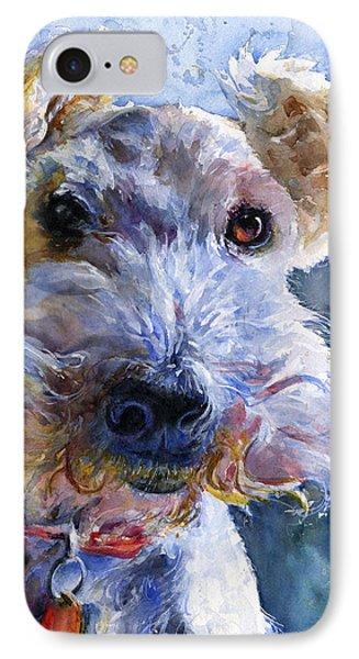Fox Terrier Full IPhone Case by John D Benson