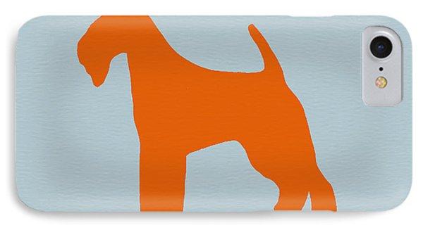 Fox Terrier Orange Phone Case by Naxart Studio