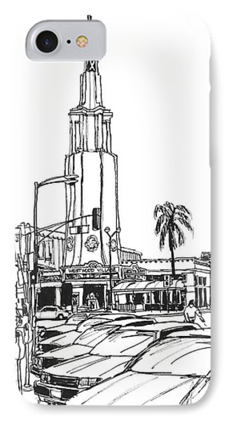 Fox Theater Westwood Village California IPhone Case