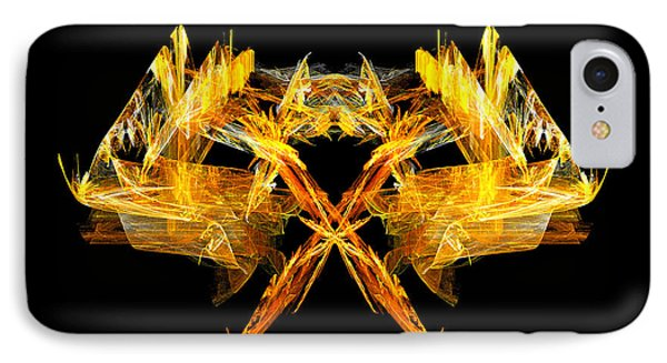 IPhone Case featuring the digital art Foxfire by R Thomas Brass