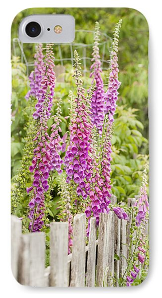 Foxglove Fence Phone Case by Anne Gilbert