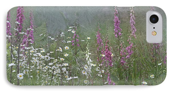 Foxgloves And Daisies Phone Case by Angie Vogel