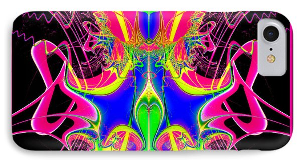 Fractal 15 Color Cacophony  Phone Case by Rose Santuci-Sofranko