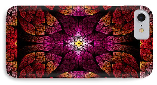 Fractal - Aztec - The All Seeing Eye Phone Case by Mike Savad