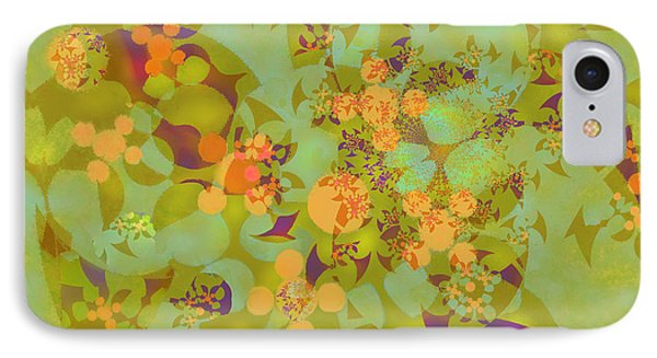IPhone Case featuring the digital art Fractal Blossom 2 by Ursula Freer