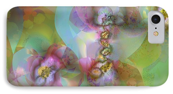 IPhone Case featuring the digital art Fractal Blossoms by Ursula Freer