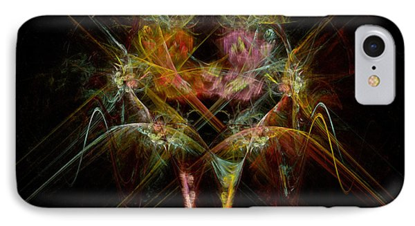 Fractal - Christ - Angels Embrace Phone Case by Mike Savad