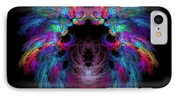 Fractal - Christ - Angels Wings Phone Case by Mike Savad