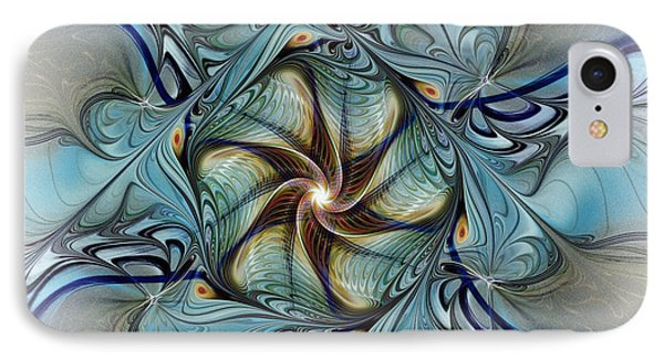 Fractal Composition In Art Deco Style IPhone Case by Karin Kuhlmann