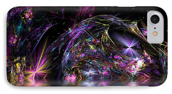 IPhone Case featuring the digital art Fractal Explosions by Mario Carini