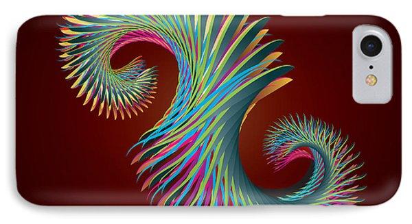 Fractal Feather Spiral Phone Case by Hakon Soreide