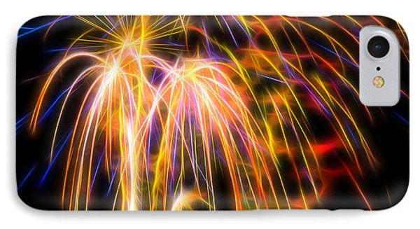 IPhone 7 Case featuring the photograph Colorful Fractal Fireworks #1 by Yulia Kazansky