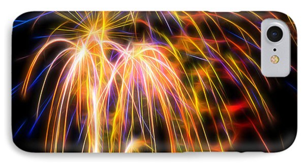 IPhone Case featuring the photograph Colorful Fractal Fireworks #1 by Yulia Kazansky