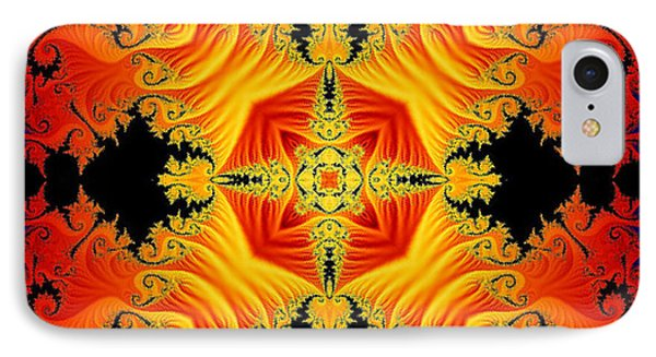 IPhone Case featuring the digital art Fractal Flames No 1 by Charmaine Zoe