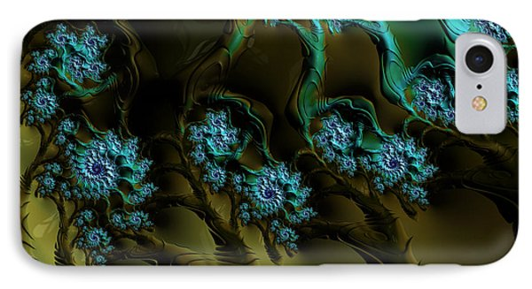 Fractal Forest IPhone Case by GJ Blackman