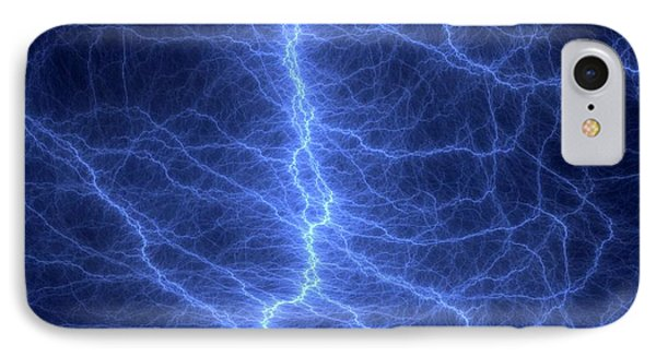 Fractal Lightning Discharge IPhone Case by David Parker