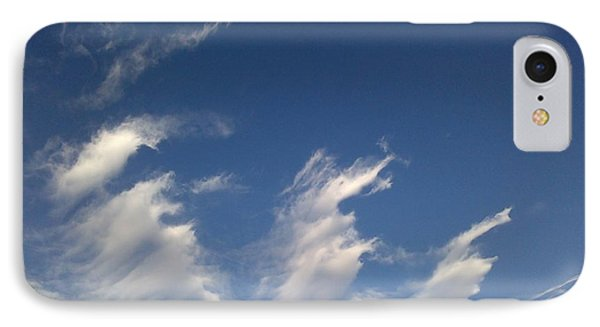 IPhone Case featuring the digital art Fractal-like Clouds by Lea Wiggins