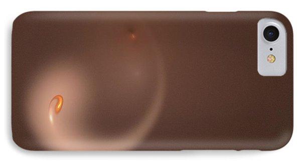 IPhone Case featuring the digital art Fractal Orange Flair by Henrik Lehnerer