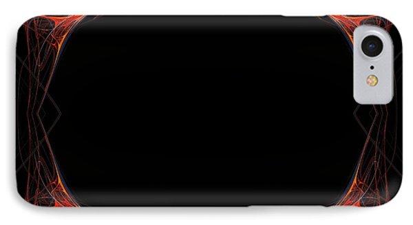IPhone Case featuring the digital art Fractal Red Frame by Henrik Lehnerer