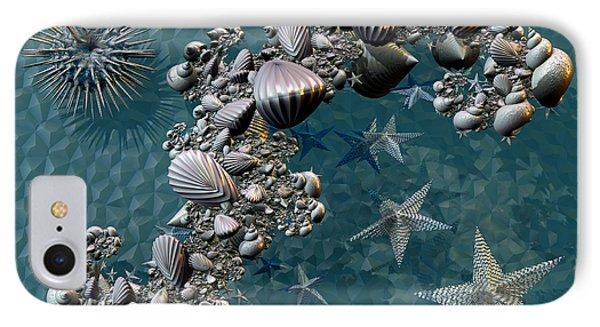 Fractal Sea Life Phone Case by Manny Lorenzo