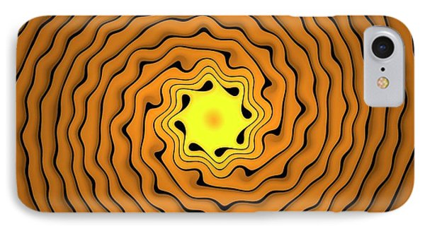 Fractal Spirals IPhone Case by David Parker