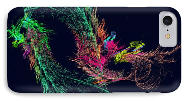 Fractal - Winged Dragon Phone Case by Susan Savad