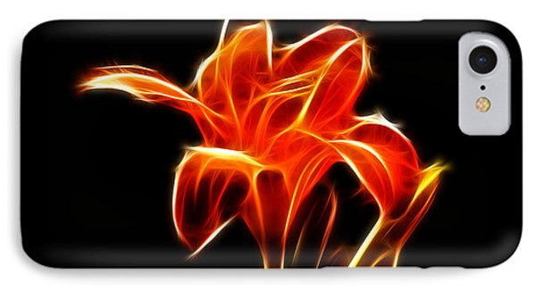 Fractaled Lily IPhone Case by Bill Barber