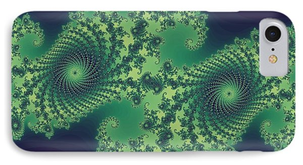 Fractals For Lane  Mapping Phone Case by Mary Ann Southern