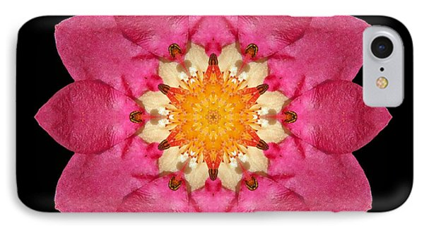 Fragaria Flower Mandala IPhone Case by David J Bookbinder