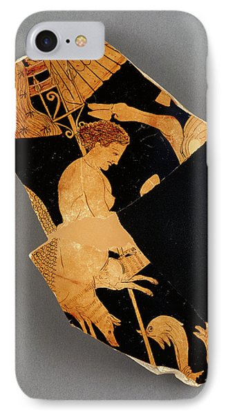 Fragment Of An Apulian Red-figure Bell Krater Black Fury IPhone Case by Litz Collection